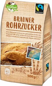 Fair Trade Brauner Rohrzucker 500 g