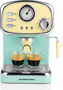 GOURMETmaxx Espresso-Maschine Retro 1100W vanille/mint