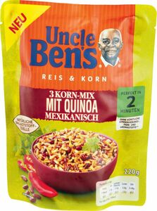 Uncle Ben's Expressreis 3-Korn-Mix mit Quinoa & mexikanisch 220g