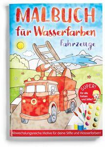 Malbuch für Wasserfarben - Fahrzeuge