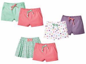 LUPILU® Kleinkinder Mädchen Shorts-&-Rockset / 2 Shorts