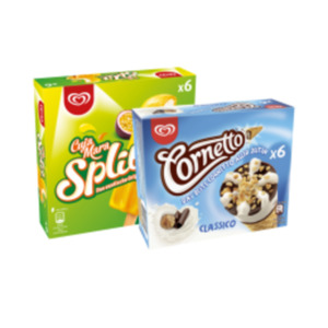 Langnese Family Eis oder Cornetto
