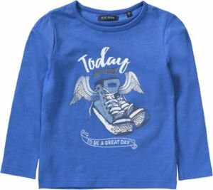 Langarmshirt blau Gr. 128 Mädchen Kinder