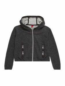 s.Oliver Junior Sweatjacke Sweatshirts anthrazit Gr. 164/170 Mädchen Kinder
