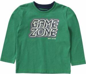 Langarmshirt grün Gr. 92 Jungen Kleinkinder