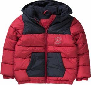 Winterjacke gesteppt mit Polarfleecefutter rot Gr. 92 Jungen Kleinkinder