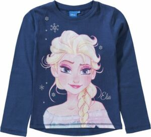 Disney Die Eiskönigin Langarmshirt dunkelblau Gr. 128/134 Mädchen Kinder
