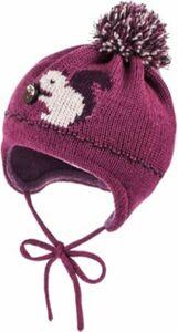 Baby Bommelmütze zum Binden pink Gr. 45 Mädchen Baby