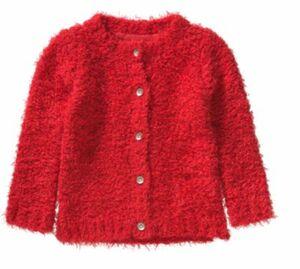Strickjacke NITVILJA rot Gr. 92 Mädchen Kleinkinder