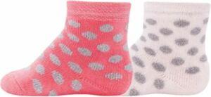 Baby Socken Doppelpack mit Innenplüsch, , Punkte rosa Gr. 27-30 Mädchen Kinder