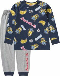 Minions Schlafanzug blau/grau Gr. 116/122 Jungen Kinder