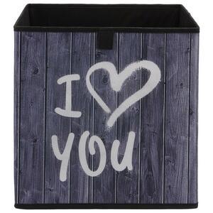 Aufbewahrungsbox Poppi mit Schriftzug