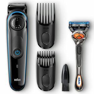 Braun Barttrimmer BT3040, Bart- und Haarschneider schwarz/blau