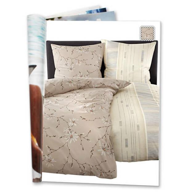 ESTELLA             Bettwäschegarnitur, florales Muster, reine Baumwolle