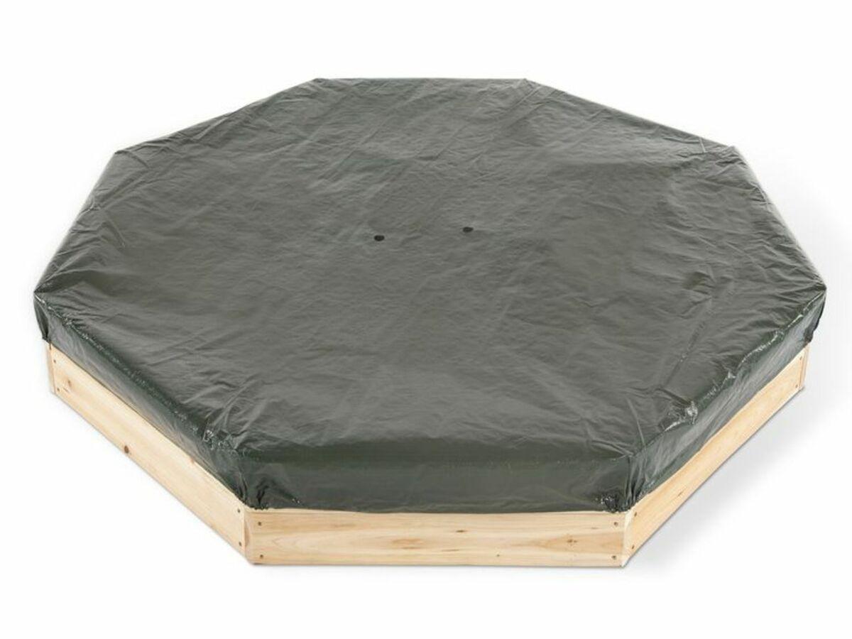 Bild 2 von Plum® Kinder Sandkasten aus Holz mit Sitzbänken und Schutzhülle
