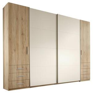 Carryhome KLEIDERSCHRANK 267/226/58 cm, Weiß