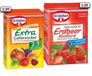Dr. Oetker Extra Gelierzucker 2:1 oder Gelierzucker für Erdbeer Konfitüre