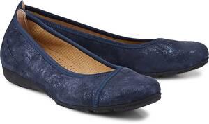 Komfort-Ballerina von Gabor in blau für Damen. Gr. 37,37 1/2,38,38 1/2,40
