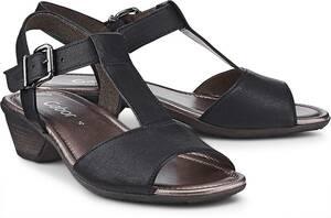Leder-Sandalette von Gabor in schwarz für Damen. Gr. 37,37 1/2