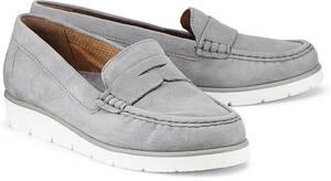 Penny-Loafer von Gabor in grau für Damen. Gr. 37 1/2,38,38 1/2,39,40,42