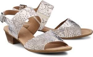 Riemchen-Sandalette von Gabor in beige für Damen. Gr. 38,40,40 1/2