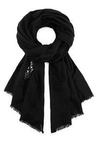 Sternen-Schal von Belmondo in schwarz für Damen