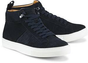 Velours-Sneaker von Ludwig Görtz in blau für Herren. Gr. 40,41,43