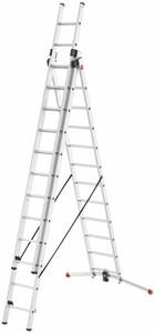 Hailo Mehrzweckleiter | 3 x 12 Sprossen, max. 9,25 m Arbeitshöhe