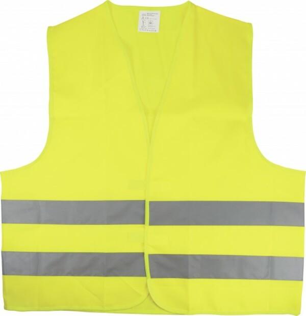 Cartrend Warnweste gelb Größe L ,  für Erwachsene, EN 20471, gelb