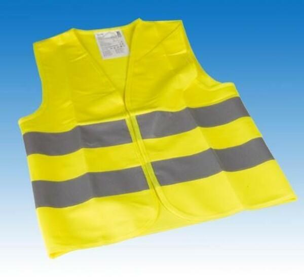 Cartrend Warnweste Universalgröße ,  für Kinder-/Jugendliche, gelb, DIN EN1150