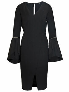 Jersey-Kleid V-Ausschnitt Sportalm Kitzbühel schwarz