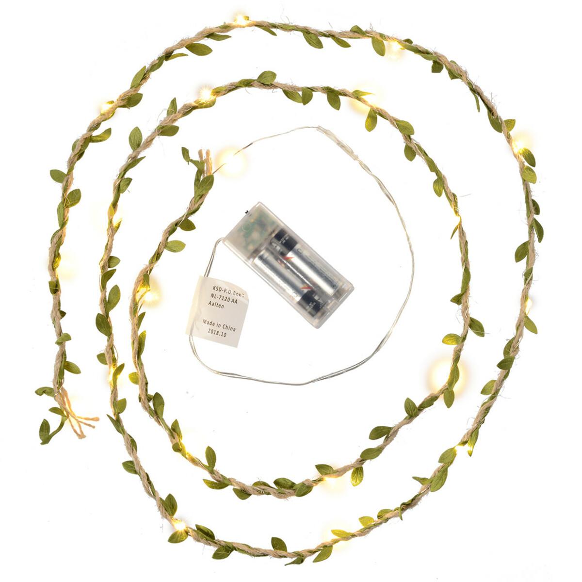 Bild 2 von LED-Lichterkette mit Deko-Blättern