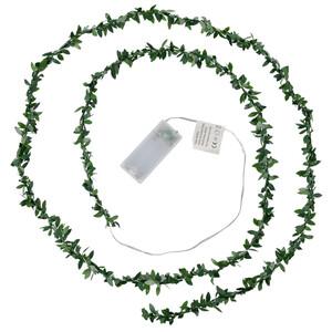 LED-Lichterkette mit Deko-Blättern