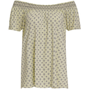 Damen T-Shirt mit gesmoktem Einsatz