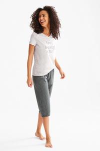 The Lingerie         Pyjama - Bio-Baumwolle - gepunktet