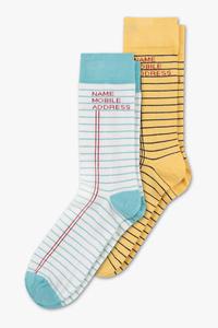 Socken - 2 Paar - gestreift