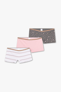 Here and There         Boxershorts - Bio-Baumwolle - 3er Pack - Glanz Effekt