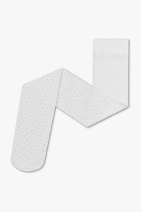 Strumpfhose - 40 den - Glanz Effekt - gepunktet