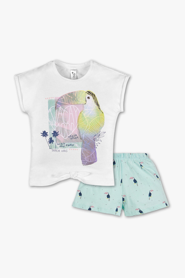 Here and There         Shorty-Pyjama - Bio-Baumwolle - 2 teilig