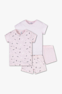 Here and There         Shorty-Pyjama - Bio-Baumwolle - 2er Pack
