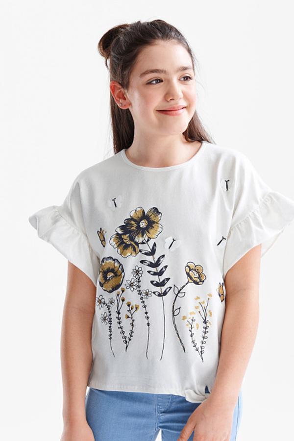 Smart & Pretty         Kurzarmshirt - Bio-Baumwolle - Glanz Effekt