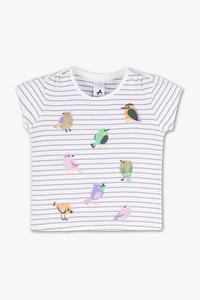 Palomino         Kurzarmshirt - Bio-Baumwolle - Glanz Effekt - gestreift