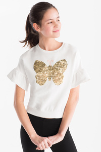 Smart & Pretty         Sweatshirt - Bio-Baumwolle - Glanz Effekt