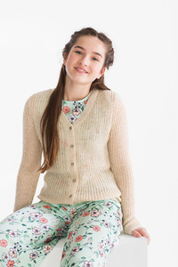 Smart & Pretty         Strickjacke - Glanz Effekt