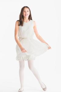 Smart & Pretty         Kleid mit Gürtel - Glanz Effekt