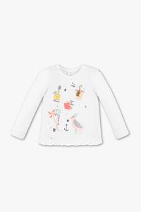 Palomino         Langarmshirt - Bio-Baumwolle - Glanz Effekt