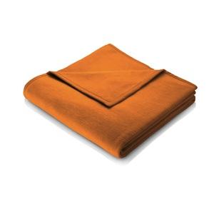 biederlack Wohndecke UNI COTTON 150 x 200 cm in Orange/Gelb