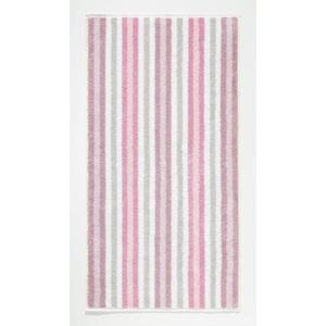 Cawö Handtuch Streifen 50 x 100 cm in Rosa