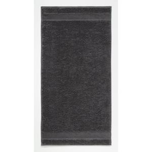 Cawö Handtuch UNI 50 x 100 cm in Grau/Schwarz