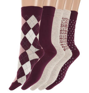 emotions Classic             Socken, 5er-Pack, verstärkte Ferse, gekettelte Spitze
